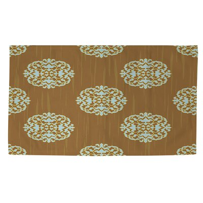 Bold in Blue Medallion Tan Area Rug Rug Size: 4 x 6