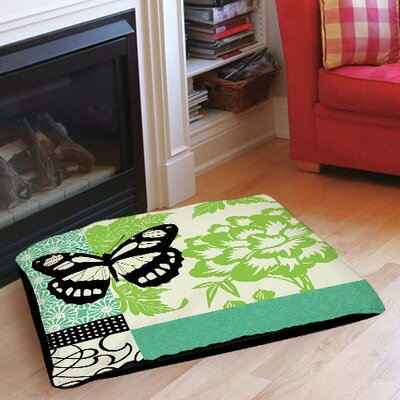 Butterfly Journey 2 Indoor/Outdoor Pet Bed Size: 50 L x 40 W