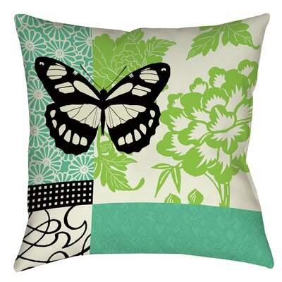 Butterfly Journey 2 Printed Throw Pillow Size: 14 H x 14 W x 3 D