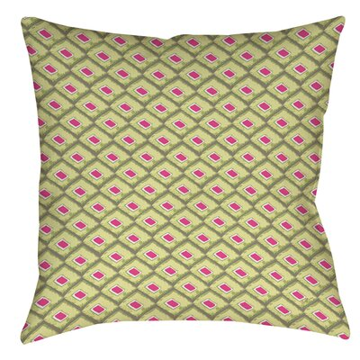 Butterfly Diamond Printed Throw Pillow Size: 16 H x 16 W x 4 D