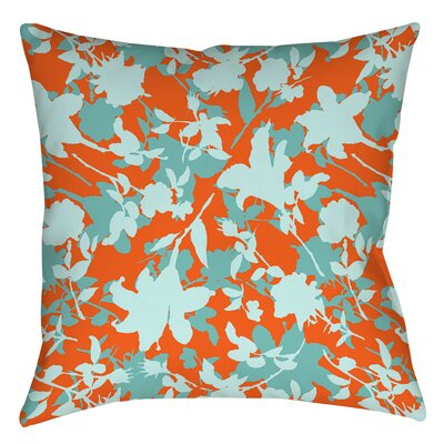 Chloe Floral 5 Printed Throw Pillow Size: 16 H x 16 W x 4 D