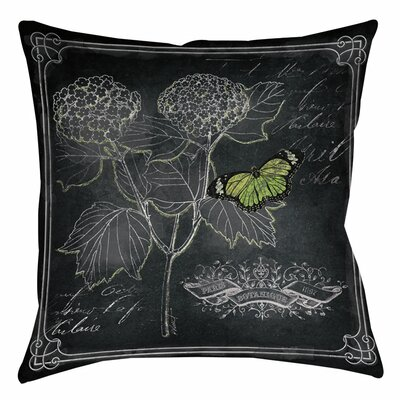 Chalkboard Botanical 1 Indoor/Outdoor Throw Pillow Size: 20 H x 20 W x 5 D