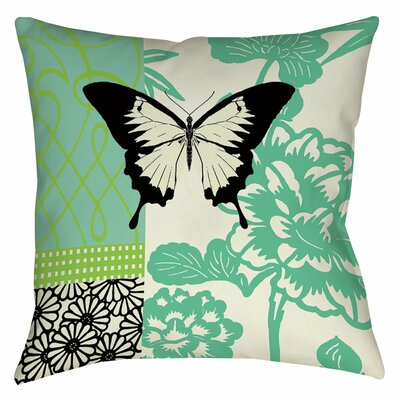 Butterfly Journey 1 Printed Throw Pillow Size: 20 H x 20 W x 5 D