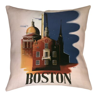 Boston Architecture Printed Throw Pillow Size: 14 H x 14 W x 3 D