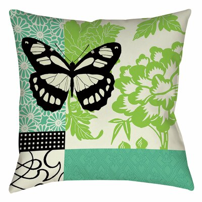 Butterfly Journey 2 Indoor/Outdoor Throw Pillow Size: 16 H x 16 W x 4 D