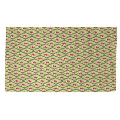 Butterfly Diamond Green/Pink Area Rug Rug Size: 4 x 6