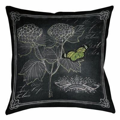 Chalkboard Botanical 1 Printed Throw Pillow Size: 14 H x 14 W x 3 D