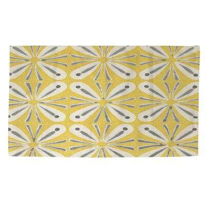 Citron and Slate 1 Yellow/Grey Area Rug Rug Size: 4 x 6