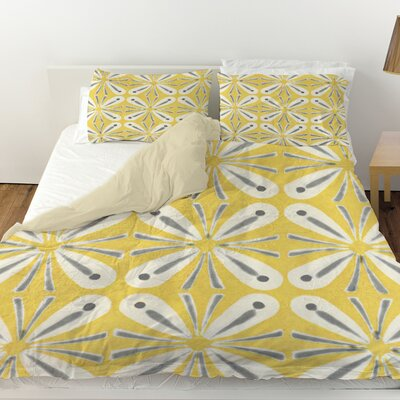 Citron and Slate 1 Duvet Cover Size: King