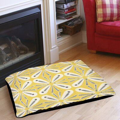 Citron and Slate 1 Indoor/Outdoor Pet Bed Size: 40 L x 30 W