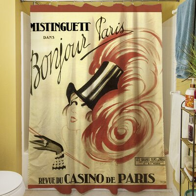 Bonjour Paris Shower Curtain
