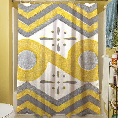 Citron and Slate II Shower Curtain