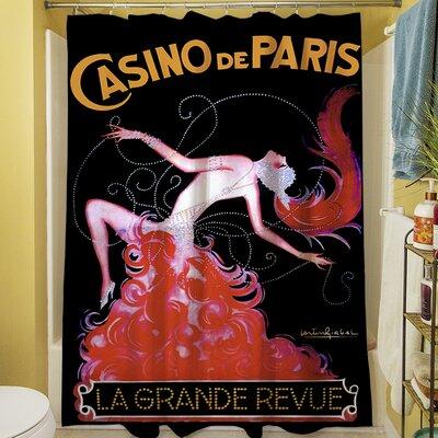 Casino De Paris Shower Curtain