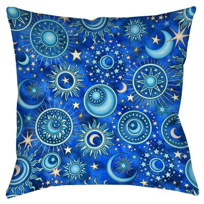 Celestial Medallions Indoor/Outdoor Throw Pillow Size: 16 H x 16 W x 4 D