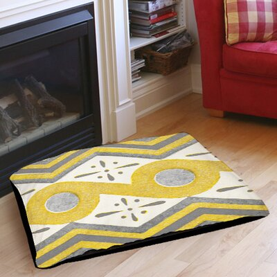 Citron and Slate 2 Indoor/Outdoor Pet Bed Size: 40 L x 30 W
