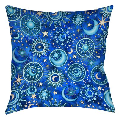 Celestial Medallions Printed Throw Pillow Size: 14 H x 14 W x 3 D