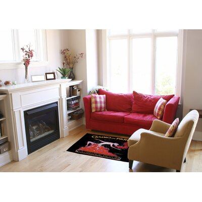 Casino De Paris Black/Red Area Rug Rug Size: 4 x 6