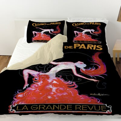 Casino De Paris Duvet Cover Size: Twin