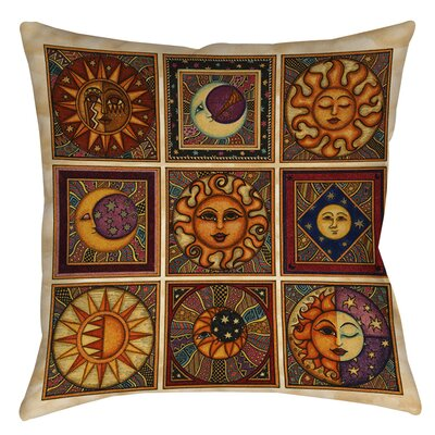 Celestial Squares Indoor/Outdoor Throw Pillow Size: 18 H x 18 W x 5 D