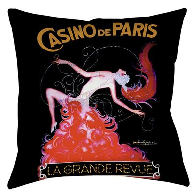 Casino De Paris Indoor/Outdoor Throw Pillow Size: 16 H x 16 W x 4 D