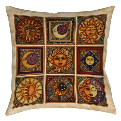 Celestial Squares Printed Throw Pillow Size: 18 H x 18 W x 5 D