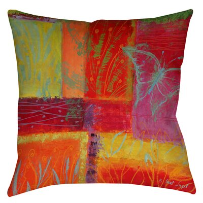 Butterfly Impressions Printed Throw Pillow Size: 14 H x 14 W x 3 D
