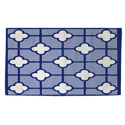 Chinoiserie Swatch 3 Blue/White Area Rug Rug Size: 2 x 3