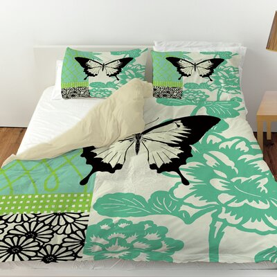 Butterfly Journey 1 Duvet Cover Size: Queen