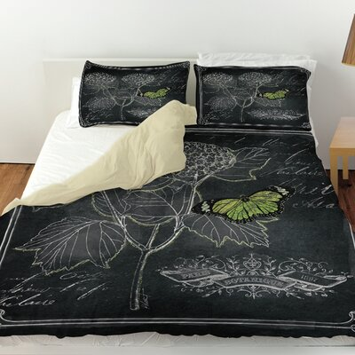 Chalkboard Botanical 1 Duvet Cover Size: Queen