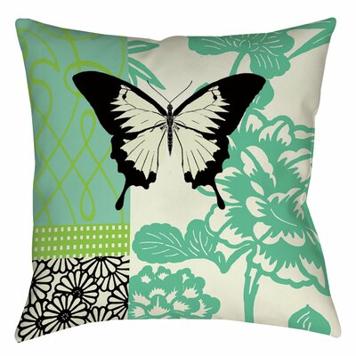 Butterfly Journey 1 Indoor/Outdoor Throw Pillow Size: 16 H x 16 W x 4 D