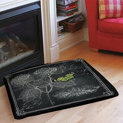 Chalkboard Botanical 1 Indoor/Outdoor Pet Bed Size: 40 L x 30 W
