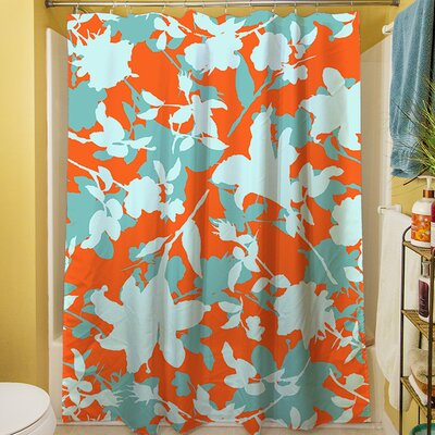 Chloe Floral V Shower Curtain
