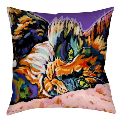 Calico Dreams Indoor/Outdoor Throw Pillow Size: 16 H x 16 W x 4 D
