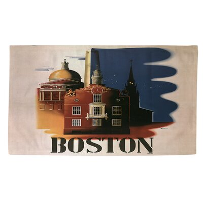 Boston Architecture Blue/Brown Area Rug Rug Size: 2 x 3