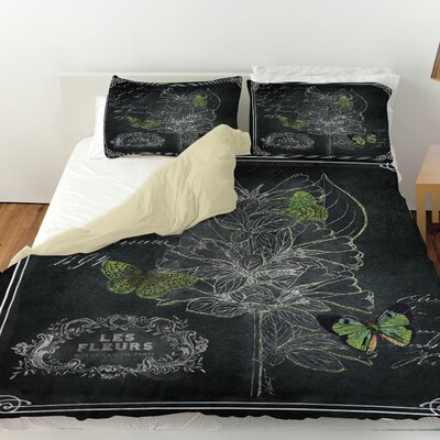 Chalkboard Botanical 2 Duvet Cover Size: King
