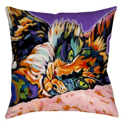 Calico Dreams Printed Throw Pillow Size: 16 H x 16 W x 4 D