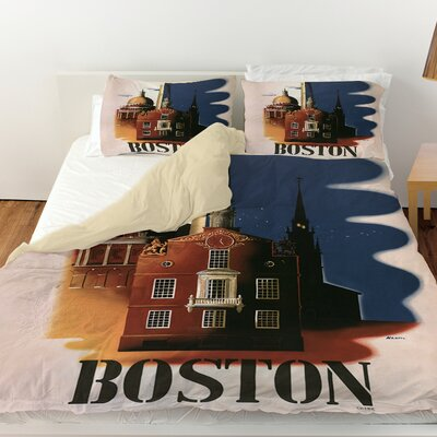 Boston Architecture Duvet Cover Size: Queen