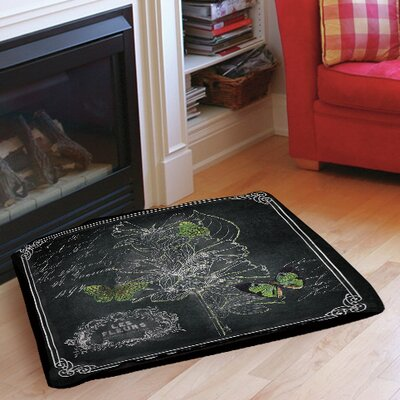 Chalkboard Botanical 2 Indoor/Outdoor Pet Bed Size: 28 L x 18 W