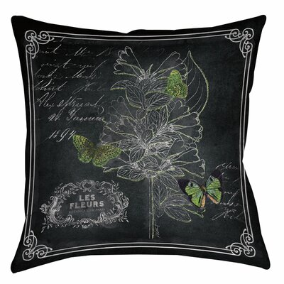 Chalkboard Botanical 2 Printed Throw Pillow Size: 26 H x 26 W x 7 D