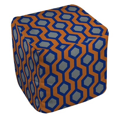 San Marcos Pouf Upholstery: Blue