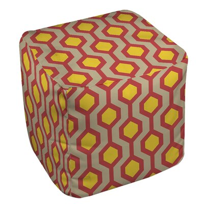 San Marcos Pouf Ottoman Upholstery: Cayenne