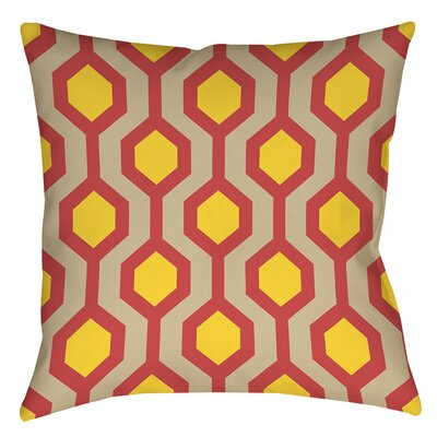 San Marcos Printed Throw Pillow Size: 14 H x 14 W x 3 D, Color: Cayenne