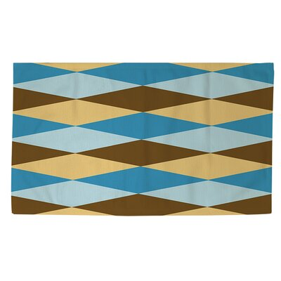 Bold in Blue Argyle Area Rug Rug Size: 2 x 3