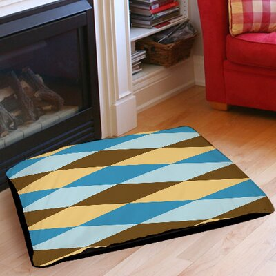 Bold in Blue Argyle Indoor/Outdoor Pet Bed Size: 28 L x 18 W