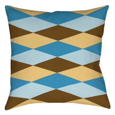 Bold in Blue Argyle Printed Throw Pillow Size: 18