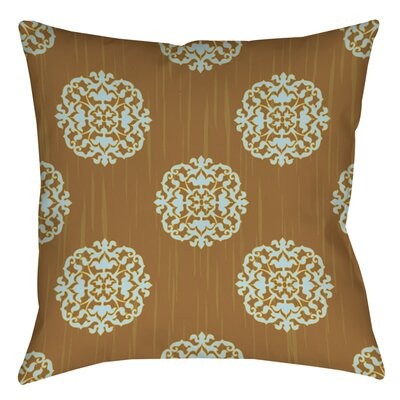 Bold in Blue Medallion Indoor/Outdoor Throw Pillow Size: 18 H x 18 W x 5 D