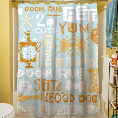 Dog Bark Shower Curtain