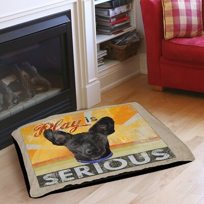 Dog Days - Little Black Pup Indoor/Outdoor Pet Bed Size: 40 L x 30 W