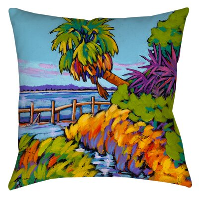 Cloud Nine Marsh Printed Throw Pillow Size: 14 H x 14 W x 3 D