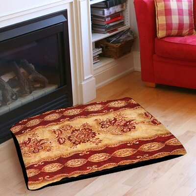 Damask Floral Stripes Indoor/Outdoor Pet Bed Size: 28 L x 18 W
